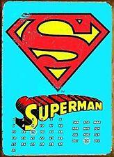 Superman Logo metal everlasting wall calendar (fd)