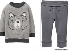 GYMBOREE Boys Bear Face Pullover Top and Pull On Bottoms NEW Size 12-18 months