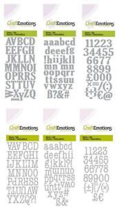 Stanzschablone Alphabet 1,2 cm, Buchstaben Zahlen, Craftemotions