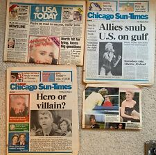 MADONNA Lot newspaper Magazines Who's that Girl Tour 1987 causing a commotion.