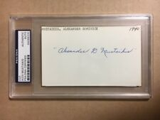Alex Mustaikis 1940 Red Sox 0-1 Record One Season Signed 3x5 Index Card PSA/DNA