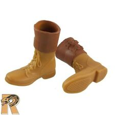 WWII Radioman - Tan Boots (for Feet) #2 - 1/6 Scale - SOW Action Figures