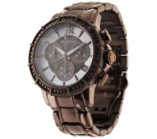 "JUDITH RIPKA DIAMONIQUE STAINLESS CHRONOGRAPH TEXTURED 7-1/4"" WATCH QVC $241"