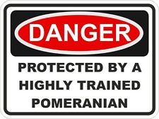 Dog Breed POMERANIAN Danger Sticker Pet For Bumper Locker Car Door