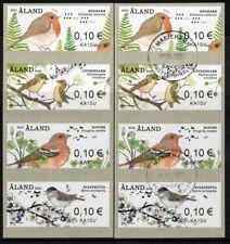 Aland Zebra-ATM Singvögel 2021; je ein Satz postfrisch und gestempelt OA Sviby!!