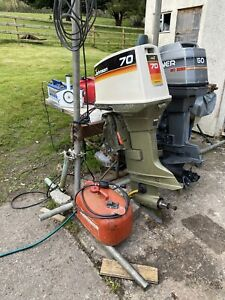 Johnson 70hp Two Stroke Long Shaft Outboard Engine 1974