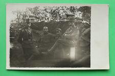 K.u.K. Foto AK Soldaten Offiziere Orden  vor Unterstand Bunker 1914-18 1.WK WWI
