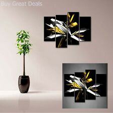 Black White Yellow Wall Art Picture Print Canvas Abstract Home Modern Decor Gift