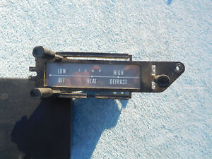 1961 FORD GALAXIE DASH HEATER CONTROL