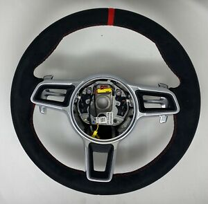 PORSCHE 991 GT3 RS 997.2 PDK ALCANTARA RED TOP STEERING WHEEL