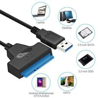 USB 3.0 To SATA 22 Pin SSD Cable Adapter For 25 inch External Hard Drive SSD