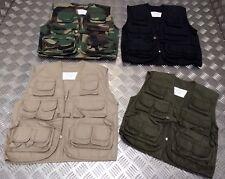 Kids ARMY Children's Assorted Action Multi-Pocket Combat Vest / Fishing Vest NEW