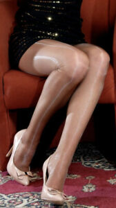 Legendary shine PLATINO 15 den Cleancut Tights Pantyhose Size Large in Paradis