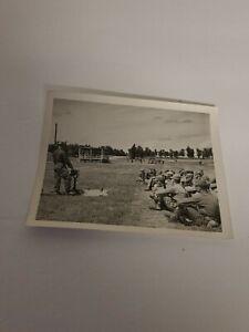 Vintage Military Training Black & White Photo Snapshot 4x5 WWII Era