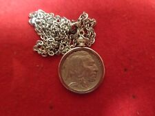 Necklace Buffalo Nickel With 18 inch Stainless  Chain