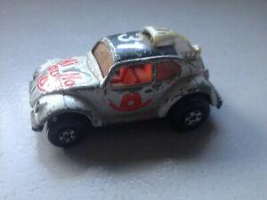 Vintage 1971 Matchbox Superfast Volkswagen HI HO Silver 1:64 (Case S)