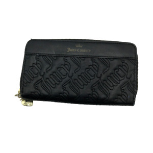 """Vintage Juicy Couture USA Womens Bags Wallet Purse Black 8 x 4.5"""""""