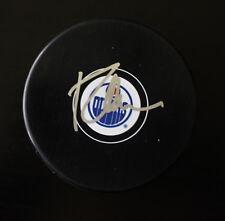 Todd McLellan Signed Edmonton Oilers Autograph Puck w/COA 2017