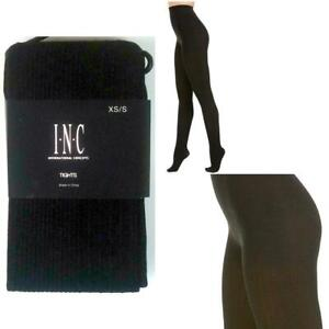 INC International Concepts Textured Sweater Tights Black Choose Size New