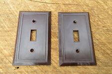 Pair Of Vintage Brown Bakelite Switch Covers