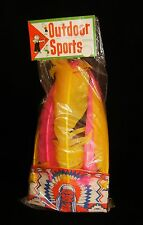 New In Package Vintage Outdoor Sports INDIAN Play Set Head Piece & Drum RARE