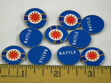 Fortress America Game Parts 10x Blue Battle Markers