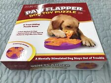 PAW FLAPPER - Dog Toy Puzzle (Eight Chamber Treat-Hiding Game NEW UNUSED!! Bin-4