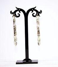 Silver Gold Metal Dangle Drop Earrings 1980'