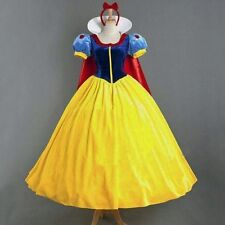Womens Deluxe Snow White Fancy Dress Costume Fairy Tale Princess Queen UK