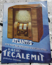 ancienne depliant radio recepteurs tecalemit