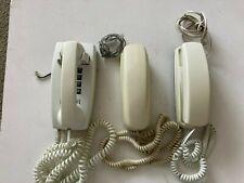 3 vintage land line push button phones