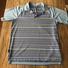 Oakley Striped Polo Shirt Size M #13738