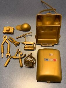 1960's Marx NASA Johnny Apollo Astronaut Backpack & Accessories ( Gold )
