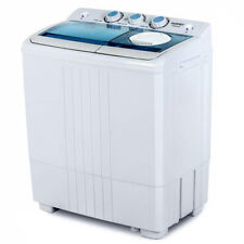 21 LBS Mini Washing Machine Portable Compact Twin Tub Spin Spiner Dryer Laundry