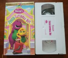 Barney & Friends Barneys Sense-Sational Day (1997, VHS Tape) OOP Purple Dinosaur