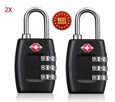 2X TSA Approved Lock Travel Luggage 3 Combination Resettable Padlock