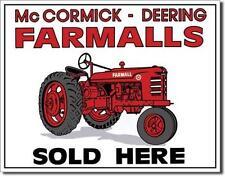 IHC Farmall estados unidos Tractor distribuidor escudo de metal