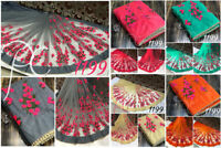 pakistani designer heavy work sari bollywood indian embroidery work saree MA