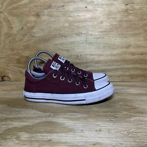 Converse All Star Low Top Canvas Sneakers Lace Up Shoes, Women Size 6, Maroon