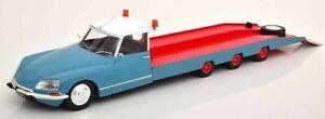 SUPERB CMR 1/18 DIECAST 1970 CITROEN DS TISSIER CAR TRANSPORTER IN BLUE CMR138