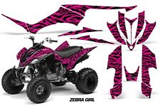 Yamaha Raptor350 AMR Racing Graphic Kit Wrap Quad Decals ATV All Years ZEBRA BLK