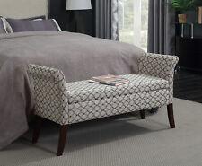 Bedroom Storage Bench Ottoman Seat Fabric Sofa Hallway Living Room Furniture New