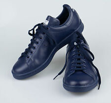 New. ADIDAS RAF SIMONS STAN SMITH Navy Blue Leather Sneakers Shoes 12/45 $455