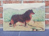 Ancienne peinture sur toile L 46,5cm H 31 cm signée Steuve H 1934 début XXème