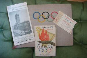 Rare Original German photo album of the Berlin Olympic Games of 1936 + Map + Pro