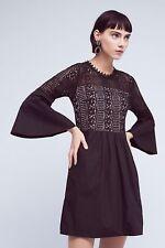 ANTHROPOLOGIE NWT Drea Belled Dress by HD in Paris Black Lace Sz MP Petite $158