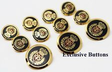 Gold Metal Blazer Buttons Set - Crown