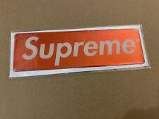 Supreme Plastic Box Logo Sticker FW17 Red