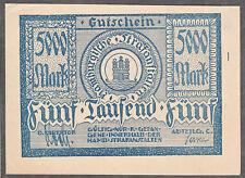 Hamburg -Hamburger Strafanstalten Abtlg C- Gutschein 5000 Mark
