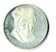 Moneda Alemania 1977 J 5 marcos  Carl Friedrich plata .625 coin Deutsche